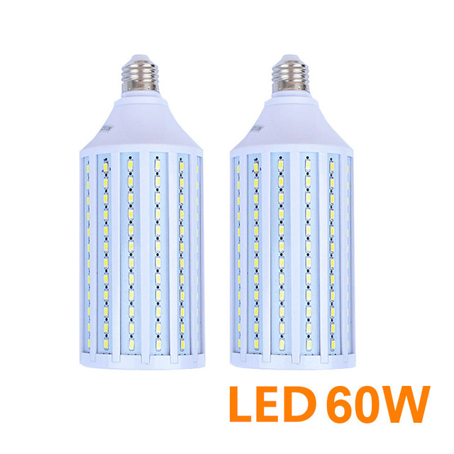 LightupFoto 2pcs 60W E27 220v Photo Studio Bulb 5730 SMD LED Video Light Corn Lamp Bulb & Tubes Photographic Lighting