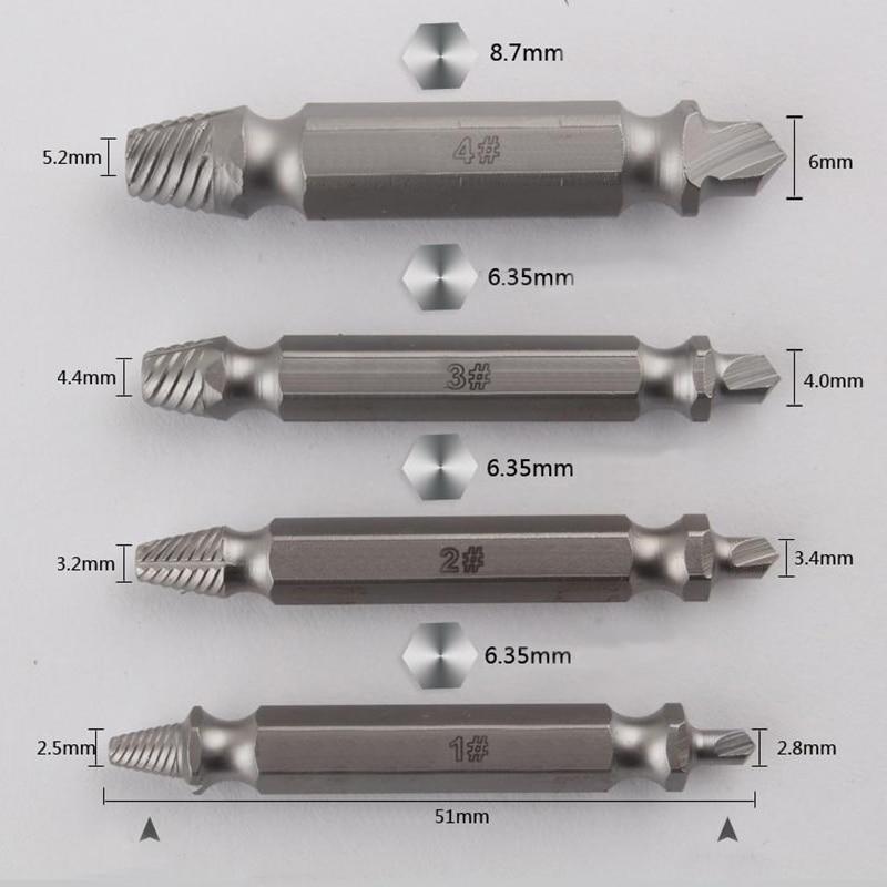 HSS acier acier vitesse hors cassé endommagé vis extracteur 4 pcs - Foret - Photo 3