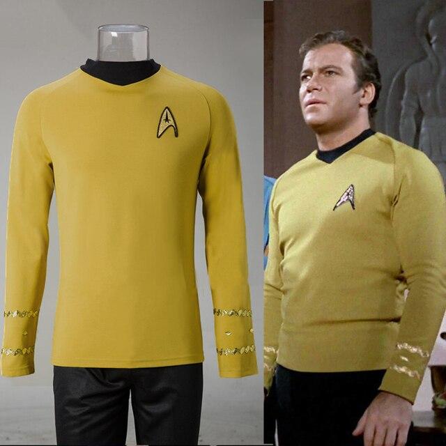 Buy cosplay star trek tos the original series kirk shirt uniform costume for Comcostume halloween homme original
