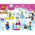 LELE 79264 Snow Queen Elsa Building Blocks 6 pçs/set Ninja Tijolos Princesa Figuras de Ação Crianças Brinquedos infantis Presente