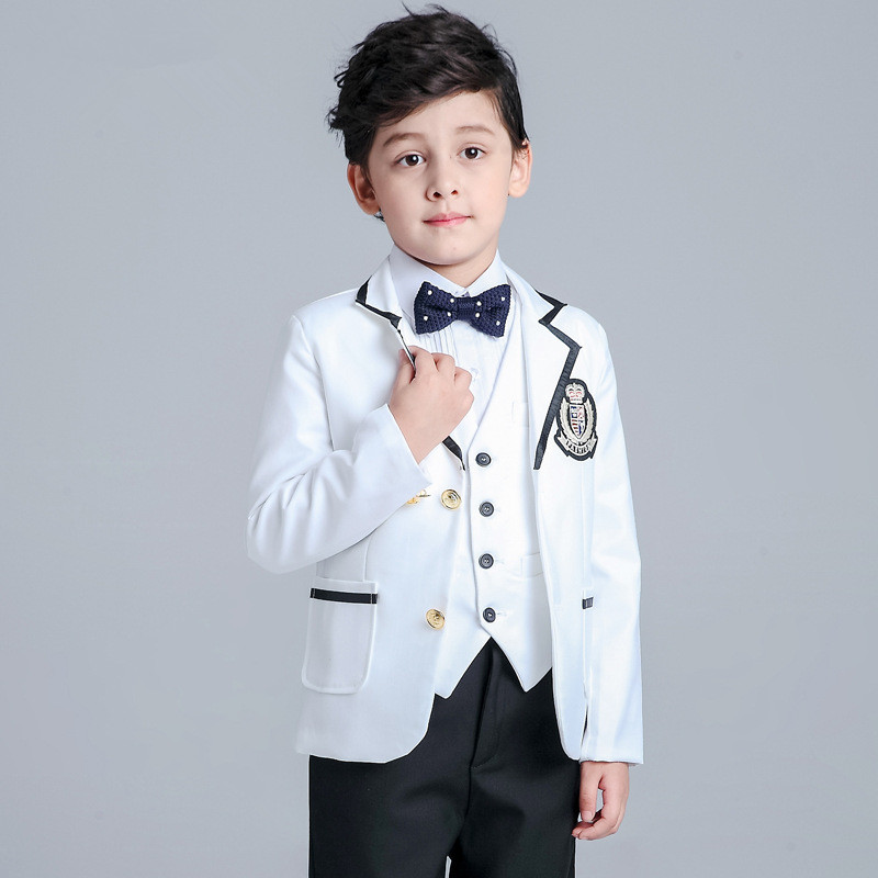 40afa163cc 2016 new fashion baby boys kids spring autumn blazers suits boy suit for  weddings children formal white dress wedding boy suits-in Suits from Mother    Kids ...