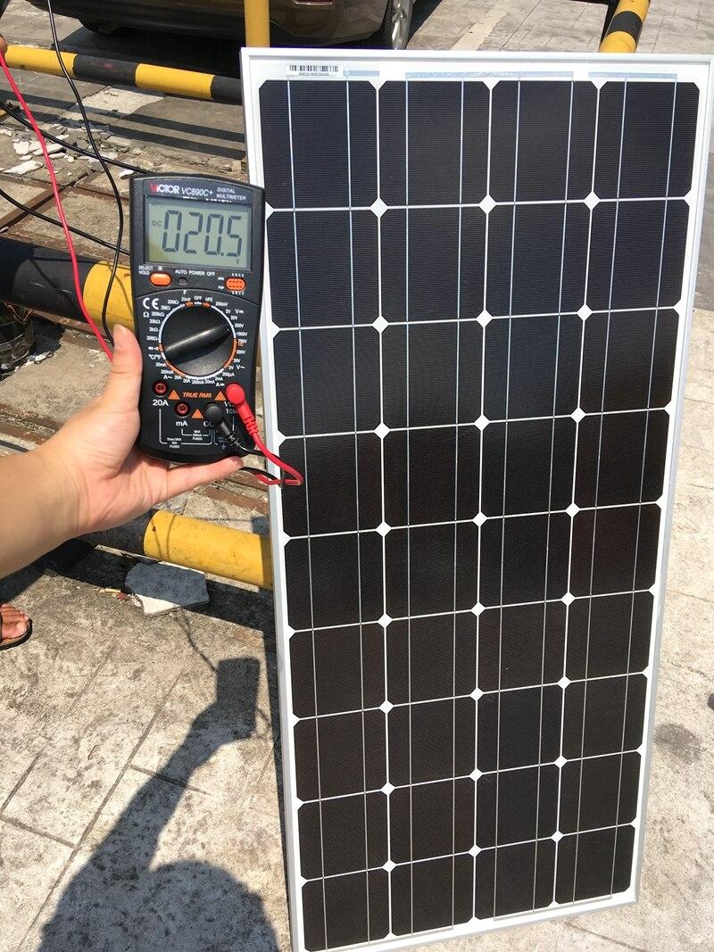Алюминий Рама 18 В 100 Вт Солнечный модуль с Стекло ламинат монокристаллические кремния 100 Вт солнечных панелей 25 лет жизни