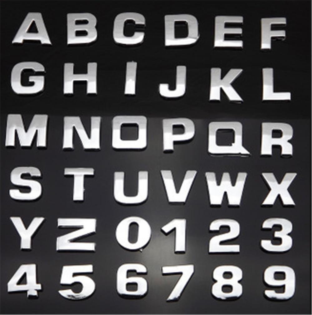 高品質自動車スタイリング 3D 金属デジタル手紙車のステッカー黒シルバーオペル Corsa アンタラ Meriva でザフィーラ記章 Mokka