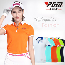 PGM Ladies Golf Clothing Polo Short Sleeved Shirt 2017 New Summer Sport Jacket Golf Women Clothes Quick Dry Tshirt Plus Size XL