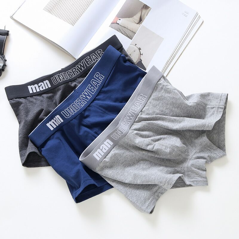 MAXLINKI Men Underwear Boxer Cotton Short Breathable Solid Mens Flexible Shorts