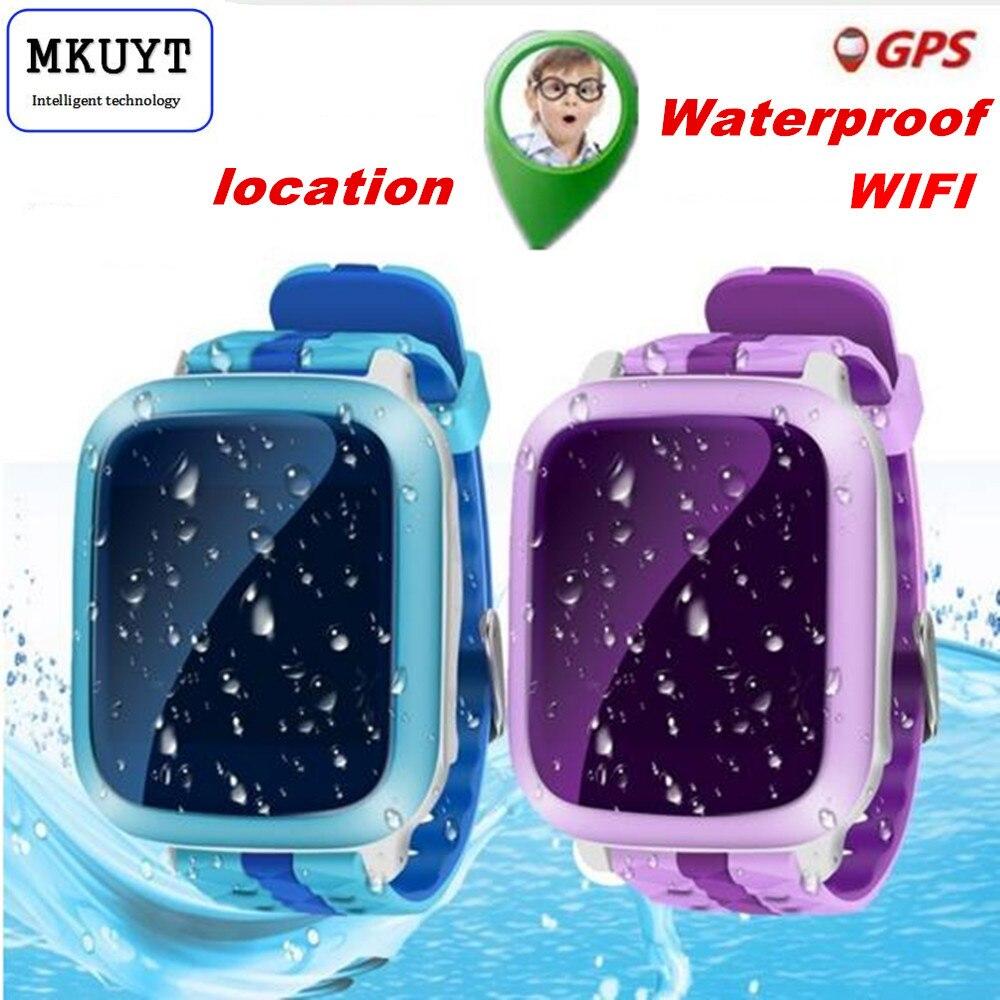 imágenes para DS18 GPS WiFI Reloj Inteligente bebé reloj Localizador Perseguidor SOS de Llamada SMS Tarjeta de la ayuda SIM para niños seguros PK Q50 Q60 Q80 Q750 Q90 Q100