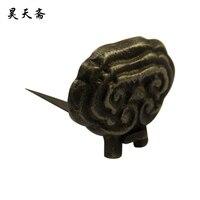 [ haotian צמחוני ] סיני עתיק נחושת צבוע תליית מסגרת וו לולאה HTM-016 פלאק טוטו ילד