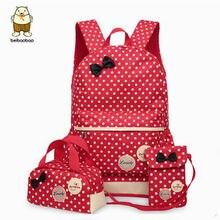 Beibaobao рюкзаки школьные сумки для подростков девочек рюкзак комплект  плеча женщин Дорожные сумки 3 шт. 3ca97c2e364