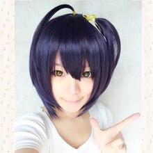 Takanashi Rikka Purple Black Short Styling Cosplay Wig + Wig Cap