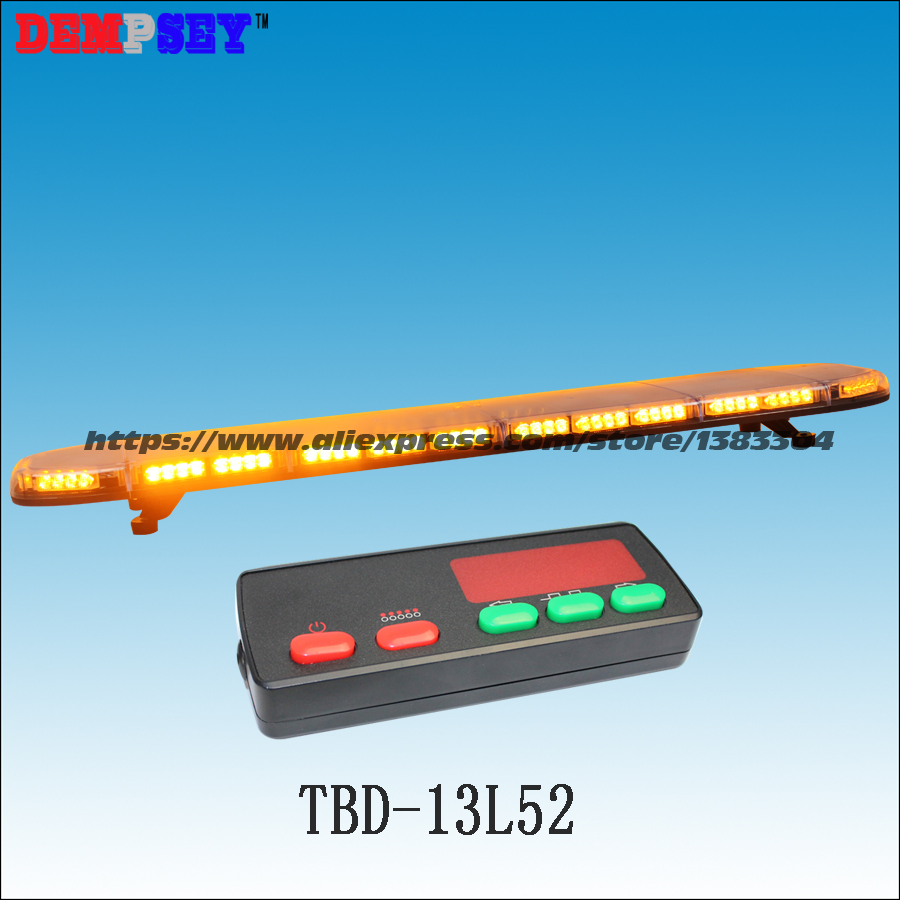 TBD-13L52 High quality super bright 1.5M Amber LED lightbar, engineering/emergency light,DC12V/24V Car Roof Flash Strobe light