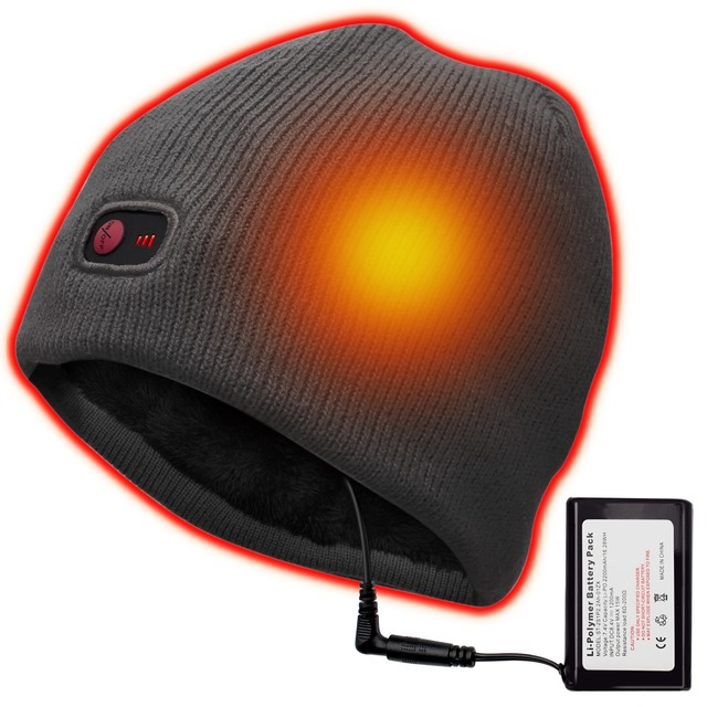 7.4V Winter heating hat ski riding climbing,hiking,hunting ice-fishing outdoor sports heating male and female universal hat