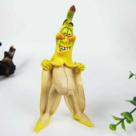 Banana Superman Funny Resin Collection Wretched Version Evil Banana Man Model Decoration Cool Stuffs Best Gift