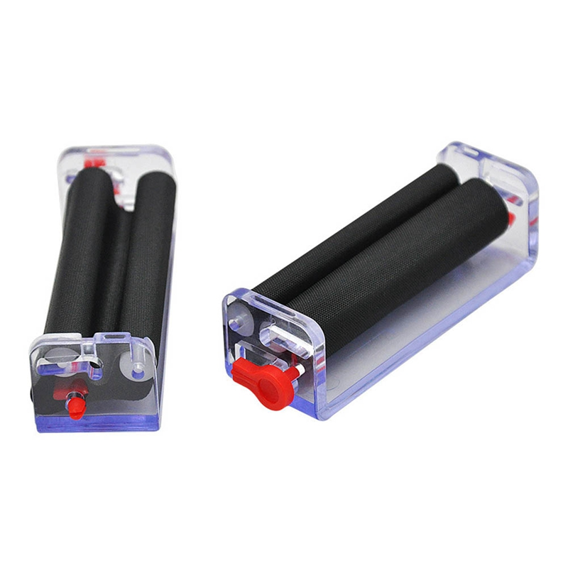 1 X 70mm Transparent Adjustable Plastic Tobacco Roller Cigarette Rolling Machine Hand Roller Machine For 70MM Paper