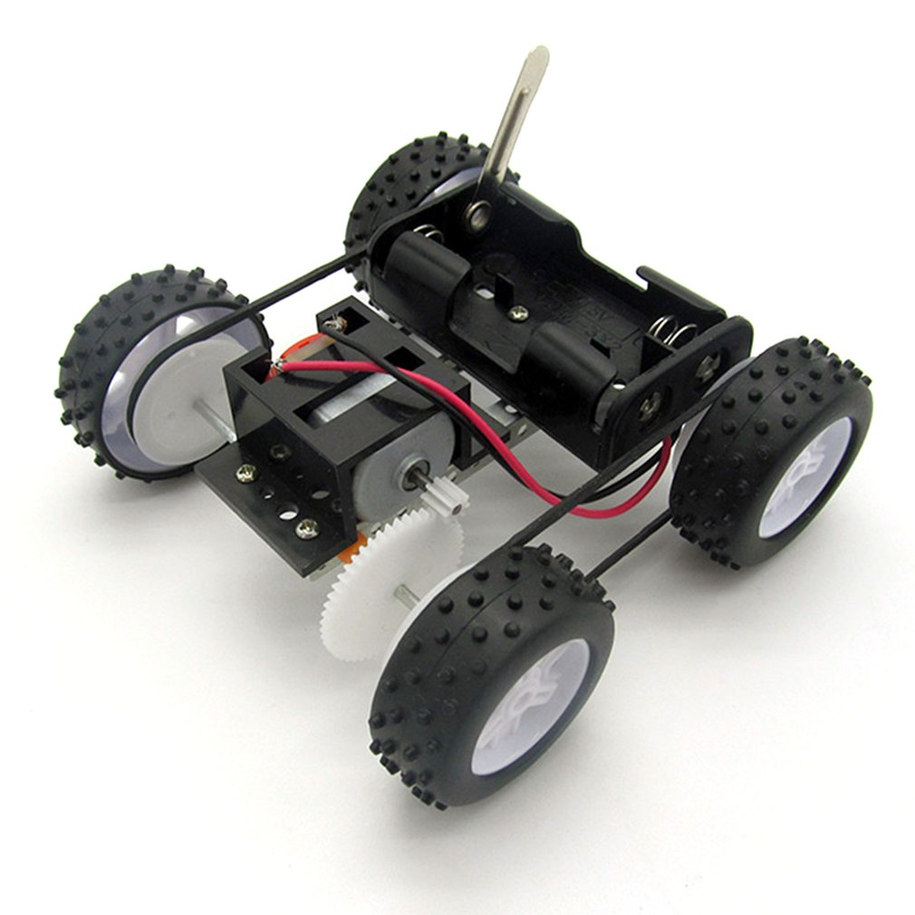 Hot DIY Vehicles 4WD Chassis Material Set Spare Parts Model Toy Four-wheel-drive Car Assembly Toy Educational Kids Craft Toy Car