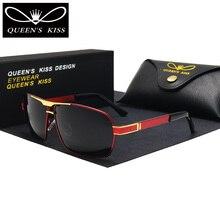 QUEENS KISS HD Polarized Men Sunglasses brand designer Retro Square Sun Glasses Accessories driving goggles oculos de sol shades