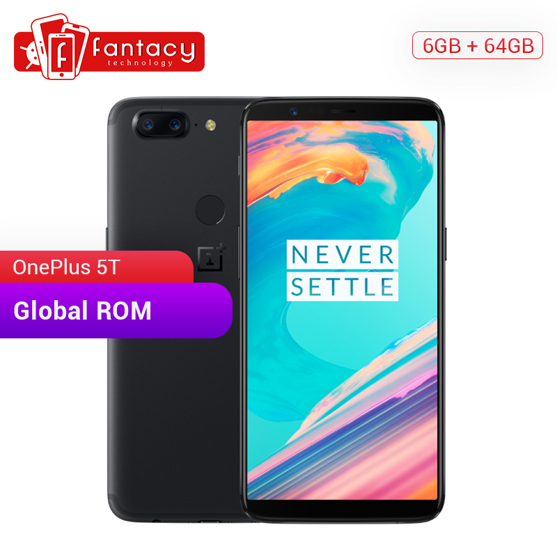"OnePlus 5T 5 T 6GB/8GB RAM 64GB/128GB ROM Snapdragon 835 Octa Core 6.01"" FHD 20MP Dual Camera OxygenOS Android 7.1 SmartPhone"