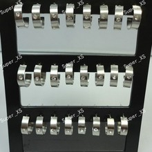 24pcs 1sets wholesale jewelry lots Top stainless steel Rhinestone Stud Earrings free shipping LB375S