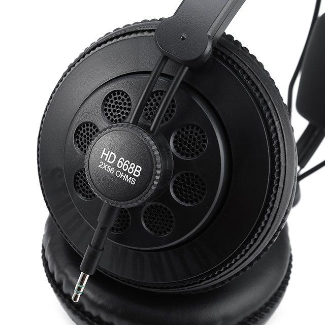 Original Superlux HD668B Professional Semi-open Studio Standard Dynamic Headphones Monitoring For Music Detachable Audio Cable