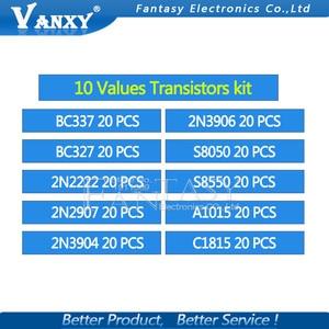 Image 5 - 10value 200PCS BC337 BC327 2N2222 2N2907 2N3904 2N3906 S8050 S8550 A1015 C1815 Transistor Assortment Kit Transistors Box Pack