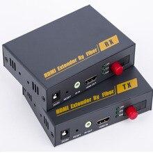 De Transmisión De Fibra Óptica HDMI con HDMI Extender por Fibra RX/TX Cable Convertidor de Audio y Vídeo A Través De Fibra Óptica Hasta a 20Km
