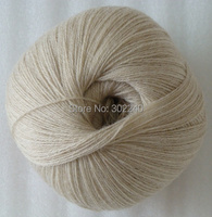 Sale 1balls X 50g LACE Soft Pure High Quality Cashmere Yarn Knitting Beige 086
