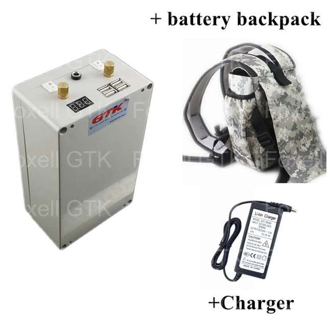 Gtk 24v 20ah Battery Pack Lithium Mini Box For 350w Ups Supply System Outdoor Inverter With Backpack Bag Charger