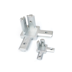 L type 3-dimensional bracket 2020 Concealed 3-way corner connector EU standard 20/30/40 series Aluminum Profile parts(China)