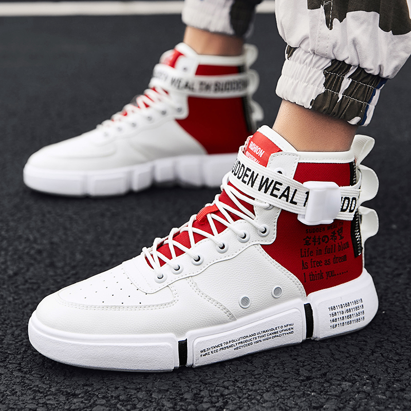Leader Show Men Casual Shoes Spring Lace-Up Man Shoes Fashion Breathable High-top Flats Casual Shoes Walking Zapatillas HombreLeader Show Men Casual Shoes Spring Lace-Up Man Shoes Fashion Breathable High-top Flats Casual Shoes Walking Zapatillas Hombre