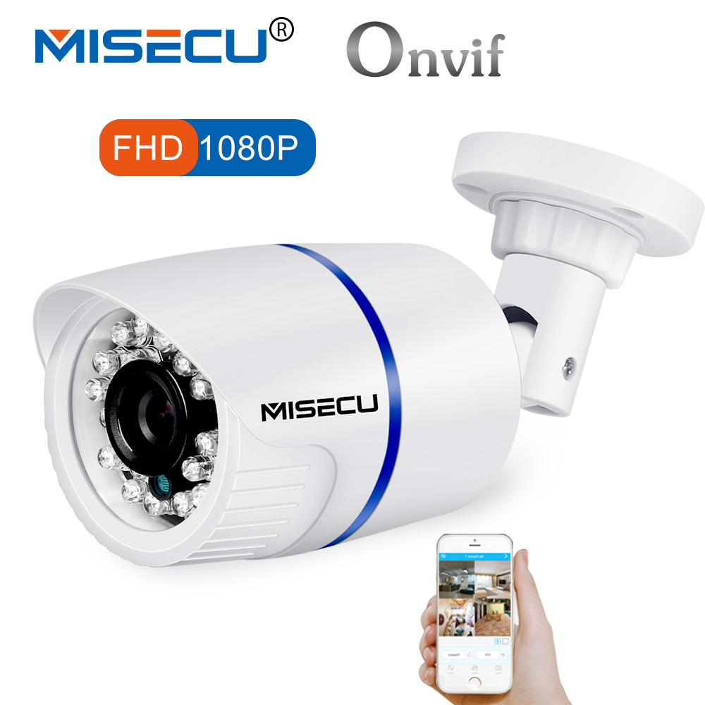 MISECU 2,8mm cámara IP al aire libre PoE 1080 p 960 P 720 p Metal ONVIF seguridad impermeable cámara IP CCTV RTSP XMEYE
