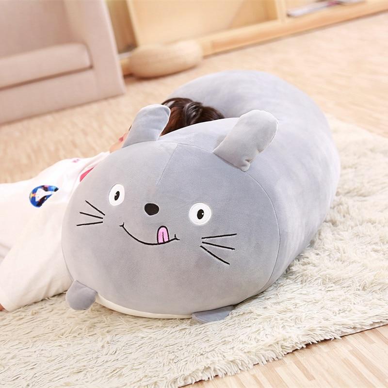90 cm belle Animal doux dessin animé oreiller coussin mignon gros chien chat Totoro pingouin cochon grenouille en peluche jouet en peluche enfants cadeau de naissance - 3