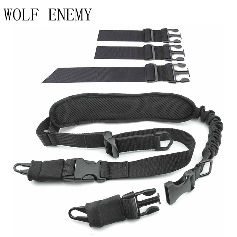 Outdoor Tactical Multi-functional Strap American Lanyard Single and Double Point Transfer Gun Sling Plus Cotton Shoulder Pads