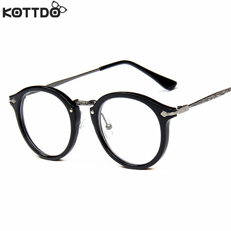 KOTTDO 2017 New Retro Frame Glasses Round Frame Computer Reading ...
