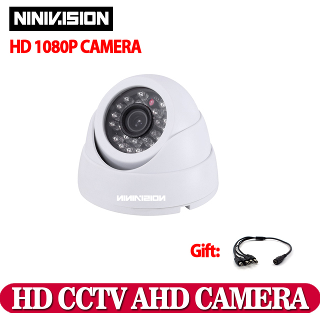 Home Indoor outdoor White Dome camera IR CUT 2.0MP 1080P AHD ...
