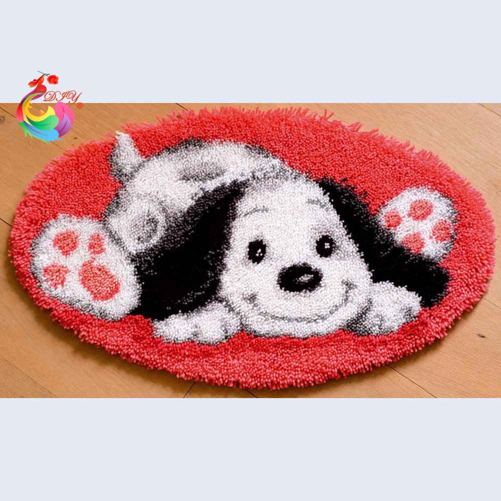 Rug Dogs Embroidery Designs: Aliexpress.com : Buy Needlework Embroidered Carpet Mats