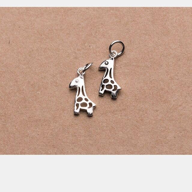 Фото uqbing винтажные мини шармы в виде жирафа серебряного цвета цена