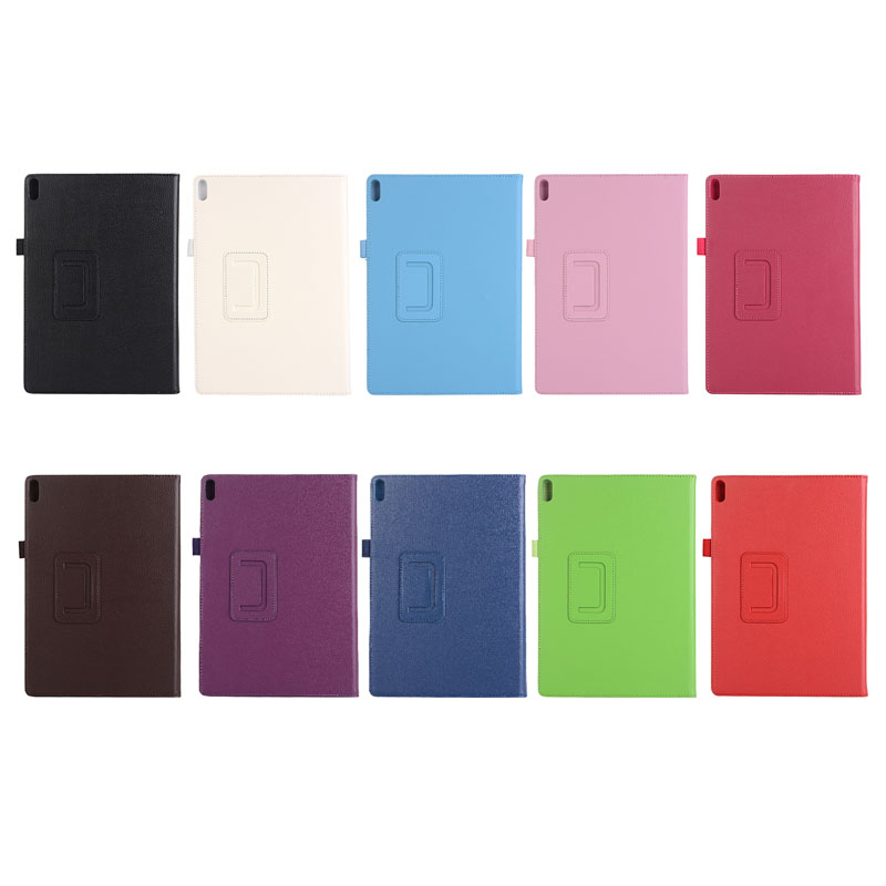 30PCS/Lot Litchi Stand PU Cover Fit For Lenovo Tab 4 10 TB X304 Tab4 10 Plus TB X704 Flip Case By DHL Fedex-in Tablets & e-Books Case from Computer & Office    1