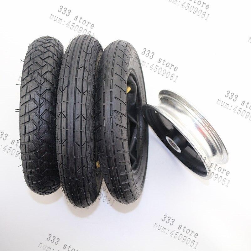 1 X Negro Pram Neumático Cochecito Cochecito Scooter de 255 X 50