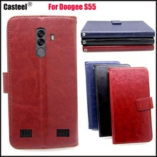 Casteel Classic Flight Series high quality PU skin leather case For Doogee S55 LITE Case Cover Shield