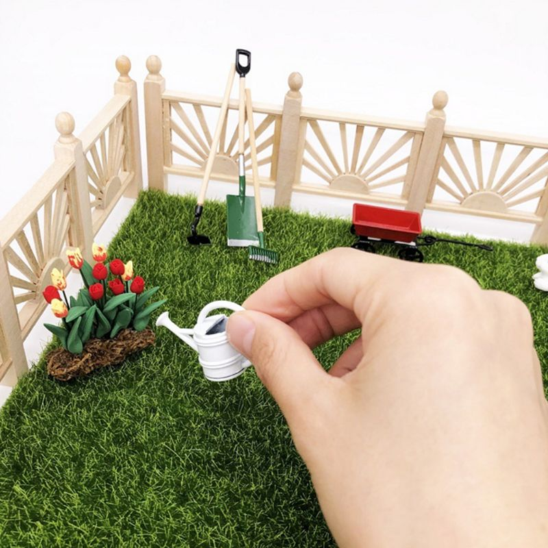 1//12 Pulling Cart Model Miniature Doll House Yard Furniture Accessory Toy Pretty