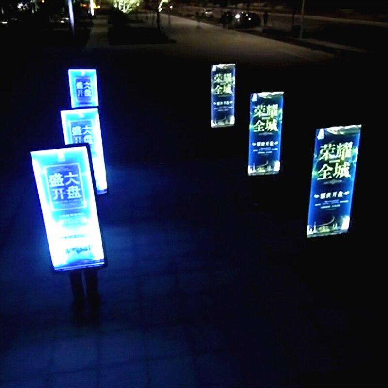 Motivated 6units 63x120cm Single Side Human Backpack Led Billboards,walking Led Advertising Light Box Signs Lights & Lighting