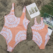 Mother Daughter Swimwear One-Piece Bikini Swimsuits Family Look Mommy and Me Clothes Mom Dress Matching Outfits
