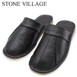 Image 2 - 石村牛革革夏のサンダルの女性カップルの家の靴男性の夏の家の床ノンスリップ靴のサイズ35 44