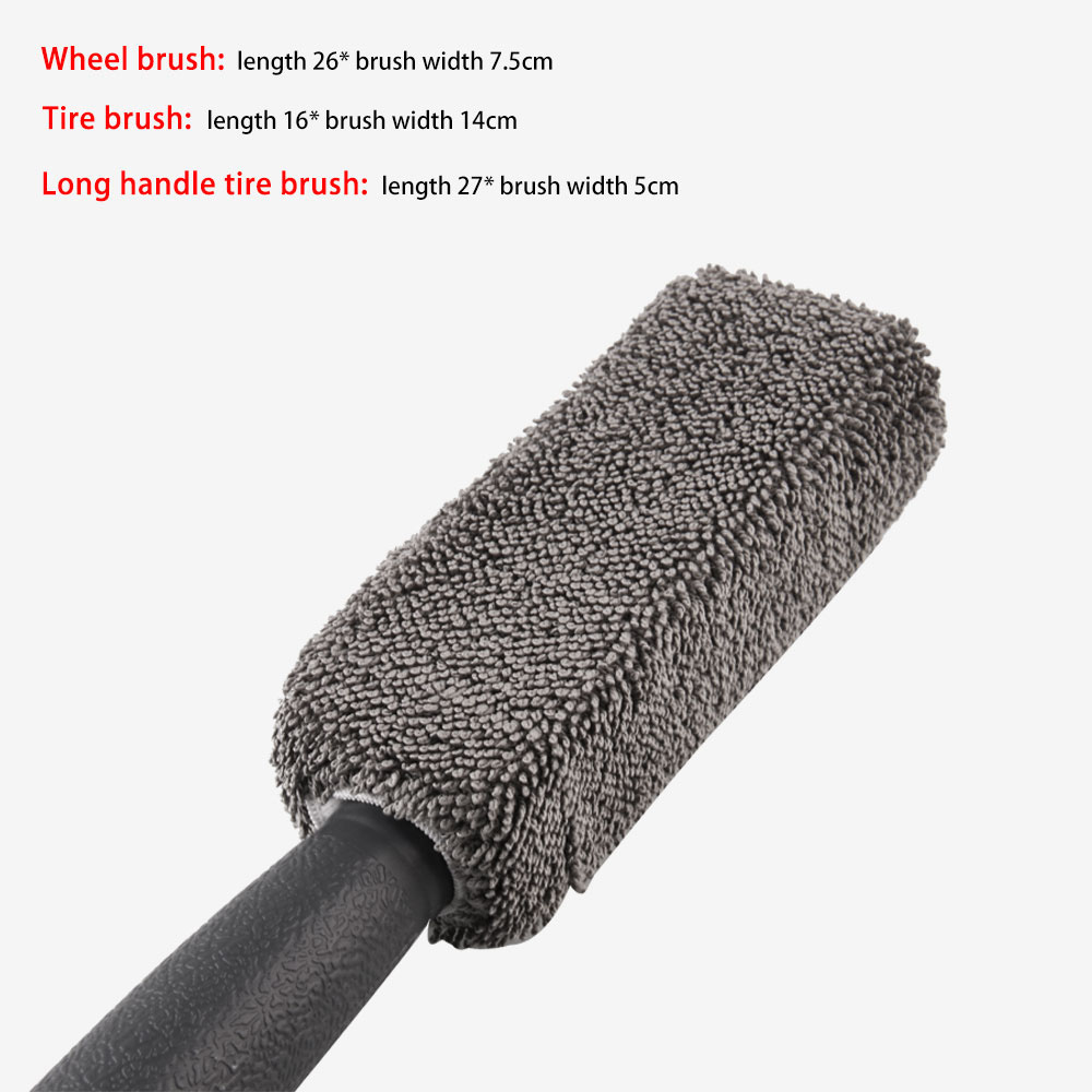 Image 4 - 3pcs/lot Universal Car Wheel Wash Brush Anti slip Handle Car Cleaning Brush Kit Soft Auto Brush Dust Car Accessories-in Sponges, Cloths & Brushes from Automobiles & Motorcycles