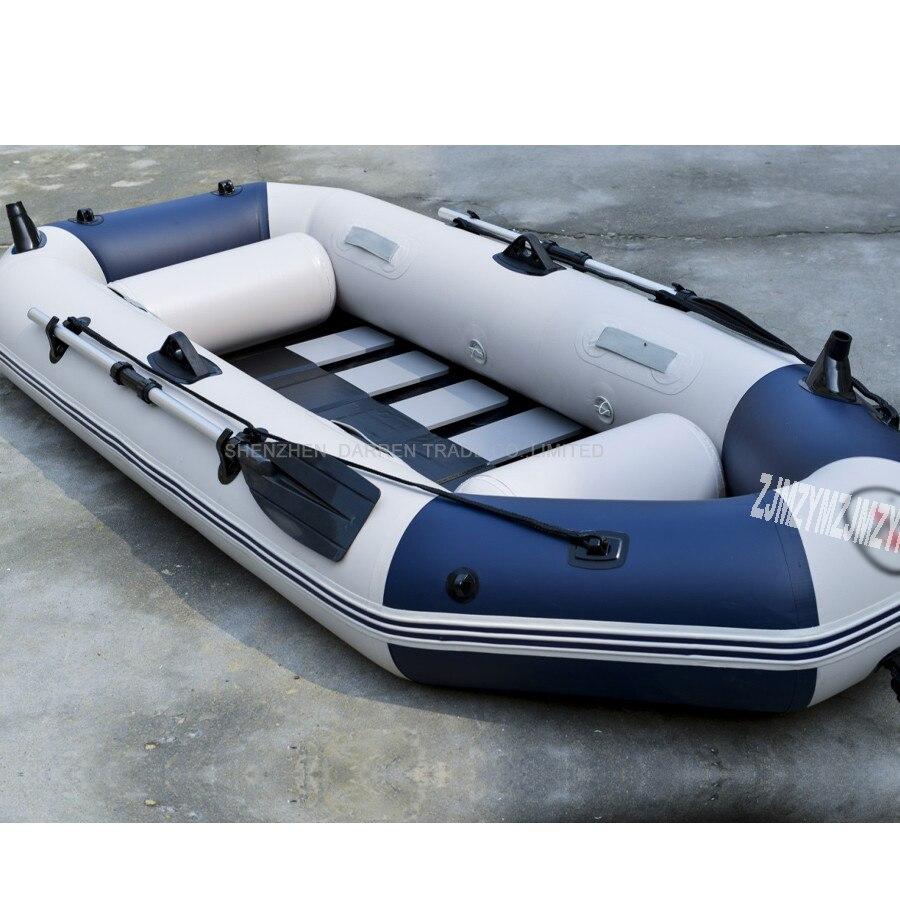 3 personnes gonflables bateau PVC matériel professionnel bateau de pêche gonflable stratifié résistant à l'usure bateau caoutchouc avec des pompes à rames