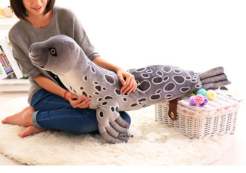 Free shipping 100cm big emulate seal sea dog plush animal stuffed toy gift for friend kids child boys girls birthday party gifts 30cm plush toy stuffed toy high quality goofy dog goofy toy lovey cute doll gift for children free shipping