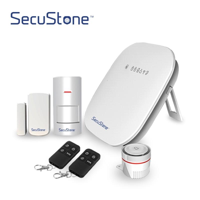 Secustone Smart wifi+PSTN Home Security Alarm System Door Window Sensor PIR Motion Detector Keyfobs App Control 433MHZ WP1 wp1