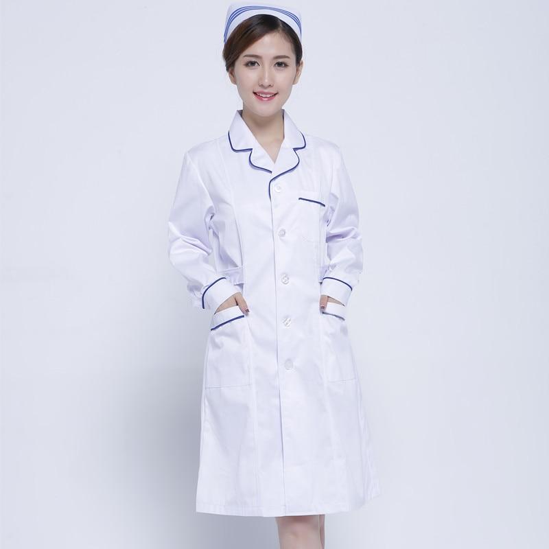 Халате врача белом халате сумка-саквояж медицина комнате синий лаборатории пальто Парикмахерская здоровья Форма Длинные рукава тонкая раб...