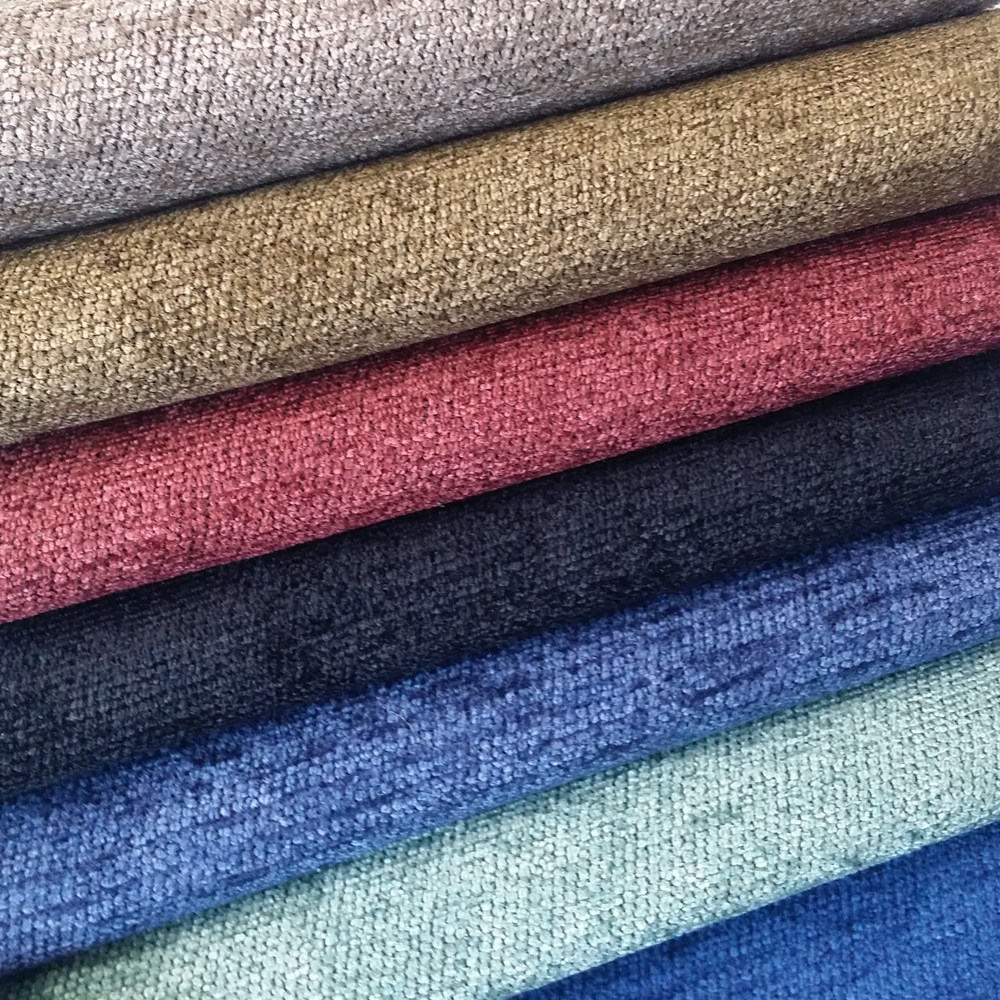 Solid Fabric Plain Chenille Yarn Dyed Jacquard Woven Soft ...