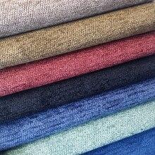 Solid Fabric Plain Chenille Yarn Dyed Jacquard Woven Soft Curtain Drapery Sofa Cushion Fabrics Upholstery Use 280cm width