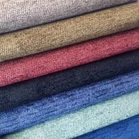 Tela sólida liso chenille fio tingido jacquard tecido macio cortina cortinas sofá coxim tecidos estofamento uso 280cm largura